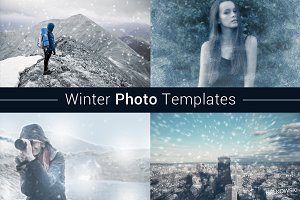 Winter Photo Template