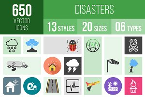 650 Disasters Icons