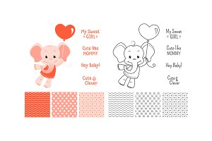 Baby elephant design set