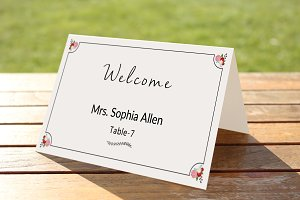 Printable Wedding Place Card