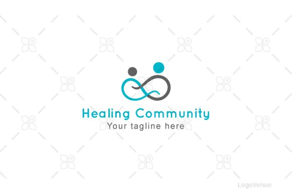 Healing Community - Human Icon Logo