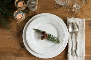Rustic Christmas table