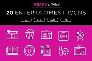 Heavy Lines – 20 Entertainment Icons