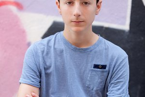 Teenager student boy