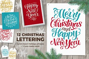 Christmas Lettering | Holidays Cards