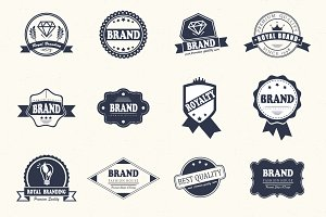 12 Logos & Badges Bundle