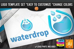 Solutions 3D Blue Water Drop Logo