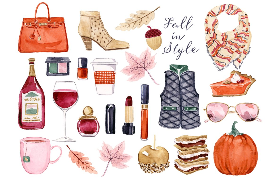 Fall Fashion Clip Art Set ~ Illustrations ~ Creative Market