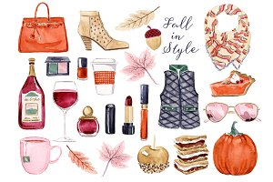 Fall Fashion Clip Art Set