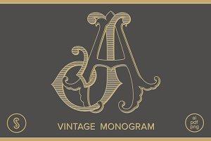 AJ Monogram JA Monogram