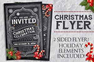 Chalk Christmas Flyer