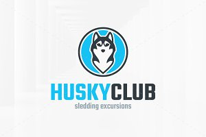 Husky Club Logo Template