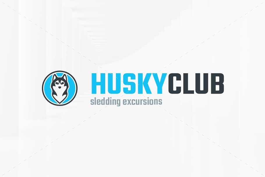 Husky Club Logo Template in Logo Templates - product preview 1
