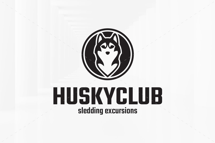 Husky Club Logo Template in Logo Templates - product preview 2
