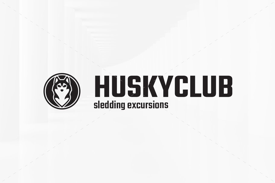 Husky Club Logo Template in Logo Templates - product preview 3