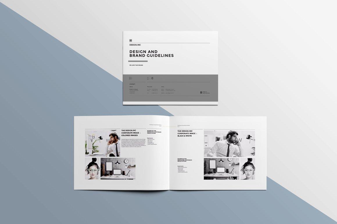 Landscape brochure mockup product mockups creative market for Landscape design paper
