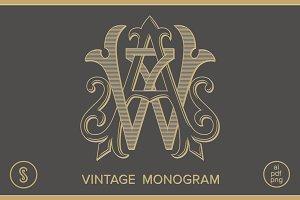 AW Monogram WA Monogram