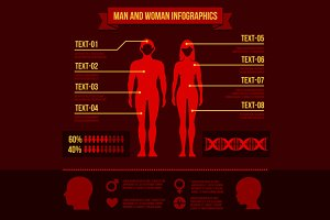 Man and Woman Infographic Elements