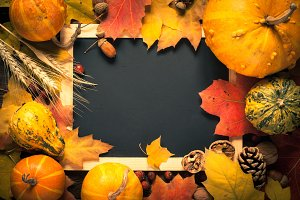 Festive autumn background.
