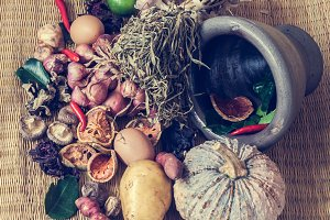 Still life of food and vegetable
