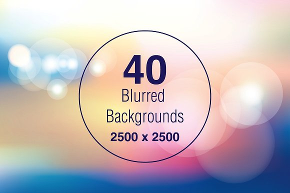 40 Blurred and Pattern Backgrounds