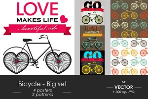 Bicycle - posters and patterns