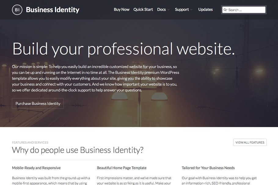 Business Identity WordPress Theme ~ WordPress Business