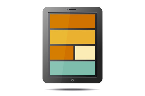 Realistic Tablet PC Computer