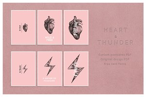 Thunder and Heart Postcard 01