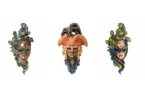 Venetian masks for masquerade