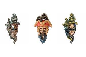 Venetian masks for masquerade