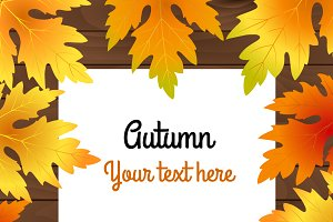 Autumn background for your text.