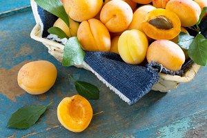 Harvest fresh ripe peaches