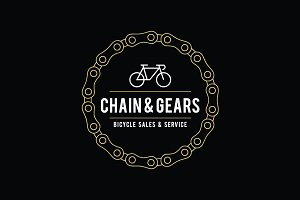 Vintage Bicycle Label Design