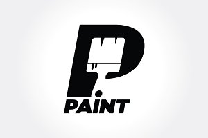 "Simple Negative Space ""Paint"" Symbol"