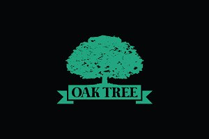 Green Oak Tree Symbol