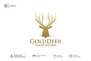 Gold Deer Logo