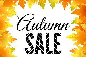 Autumn, fall sale template with text