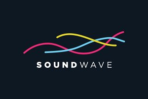 Creative Audio Wave Symbol