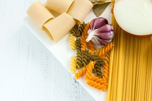 Italian Pasta with garlic and onion
