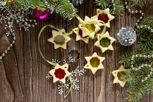 Stained cookies homemade star