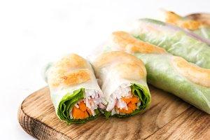 Vietnamese rolls with prawns