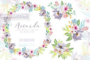 Floral Watercolor Design - Amanda