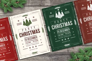Christmas Flyers Party Rustic