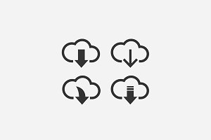 Download / cloud storage icons
