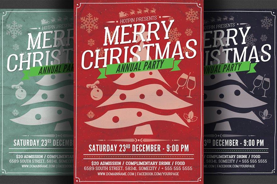 Christmas Party Flyer Flyer Templates Creative Market Pro