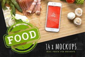 14 PSD Mockups Food