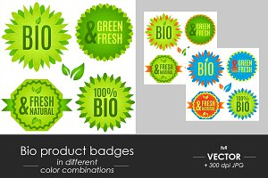 Bio natural product vector icons