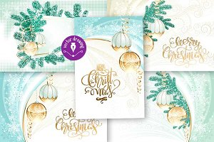 *5*Christmas backgrounds