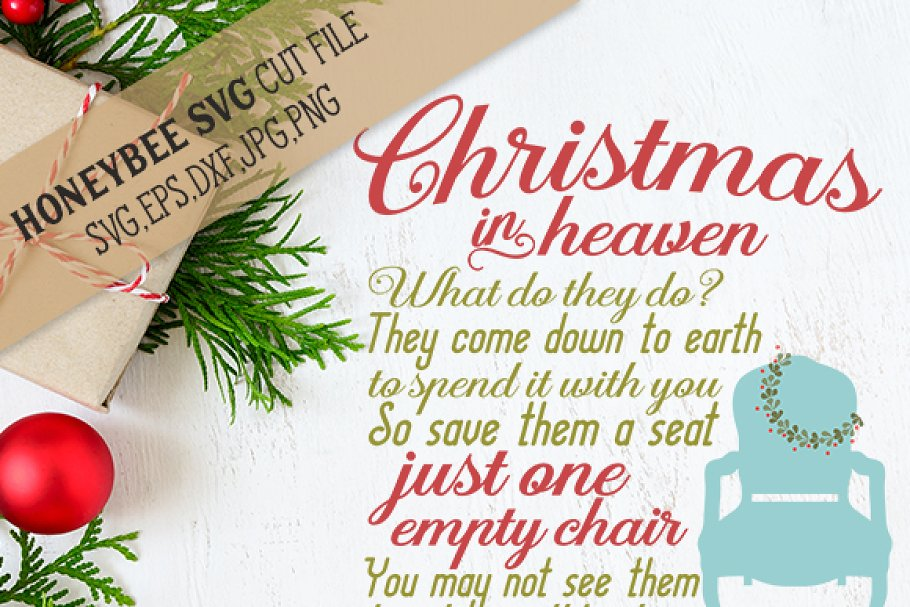 Christmas In Heaven Poem Svg.Christmas In Heaven Chair Illustrations Creative Market